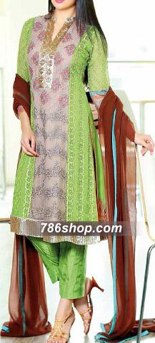 Sea Green Chiffon Suit | Pakistani Chiffon Dresses