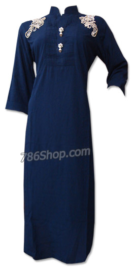Blue Cotton Shirt | Pakistani Dresses in USA
