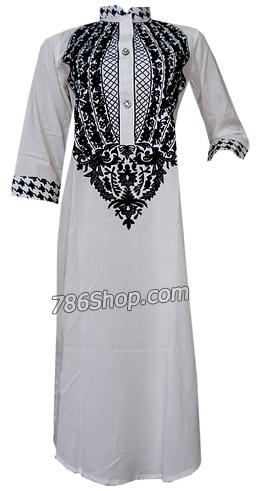White Cotton Shirt | Pakistani Dresses in USA