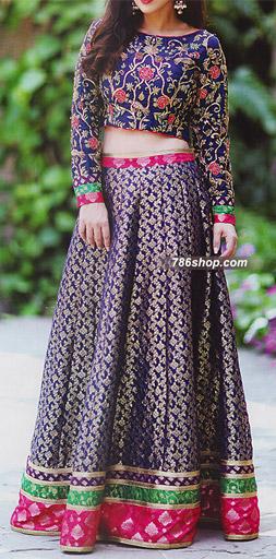 Indigo Jamawar Suit | Pakistani Wedding Dresses in USA