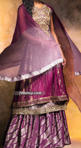 Purple Jamawar Suit | Pakistani Party and Designer Dresses in USA