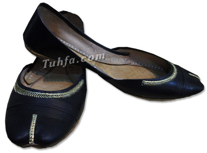Ladies Khussa- Black | 786Shop.com