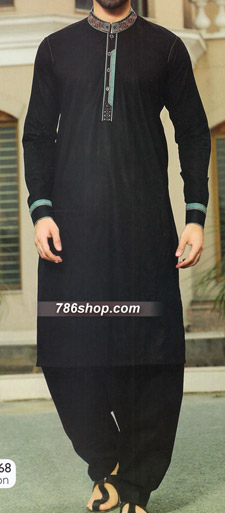 Black Shalwar Kameez Suit | Pakistani Dresses in USA