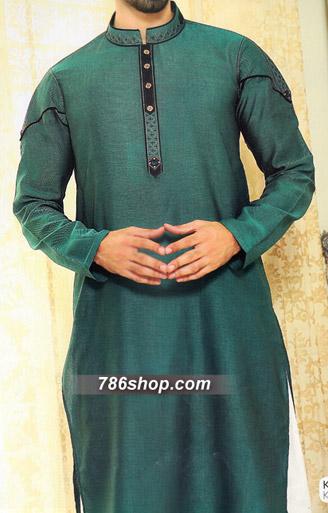 Teal Shalwar Kameez Suit | Pakistani Dresses in USA