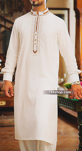 Off White Shalwar Kameez Suit Buy Pakistani Indian