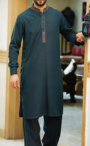 Teal Shalwar Kameez Suit   Pakistani Dresses in USA