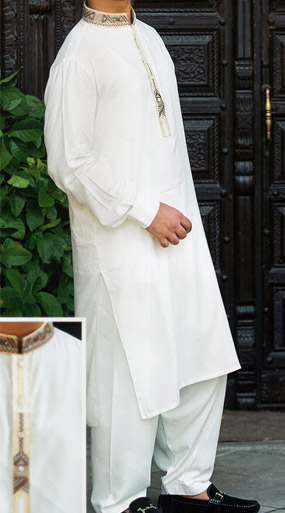 White Shalwar Kameez Suit | Pakistani Dresses in USA