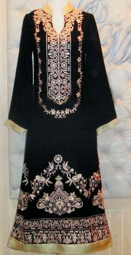 Black Chiffon Suit | Pakistani Chiffon Dresses