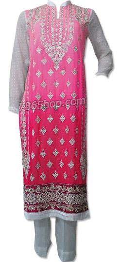 Pink/White Chiffon Suit | Pakistani Chiffon Dresses in USA
