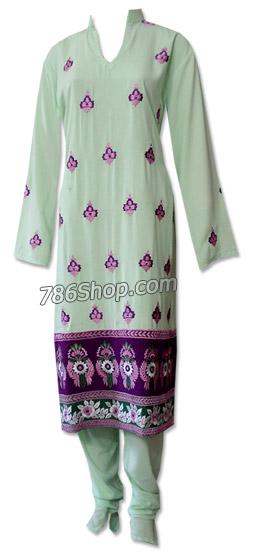 Light Green Georgette Suit | Pakistani Dresses in USA