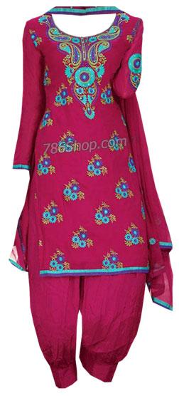 Magenta Georgette Suit | Pakistani Dresses in USA