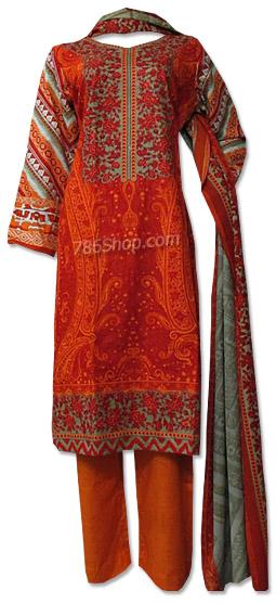 Orange Khaddar Suit | Pakistani Dresses in USA
