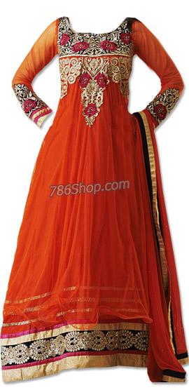 Orange Net Suit | Pakistani Dresses in USA