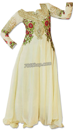 Off-white Georgette Suit | Pakistani Dresses in USA