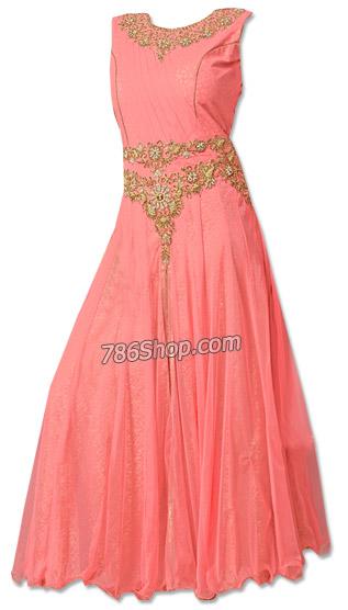 Tea Pink Net Suit   Pakistani Dresses in USA