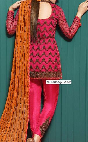Hot Pink Chiffon Suit | Pakistani Chiffon Dresses