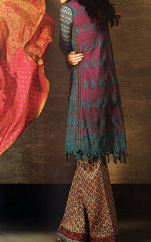Teal Lawn Net Suit | Pakistani Lawn Suits in USA