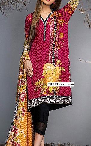 Hot Pink Viscose Suit | Pakistani Winter Clothes