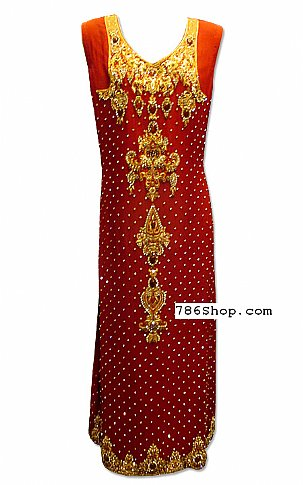 Maroon Crinkle Chiffon Suit | Pakistani Dresses in USA