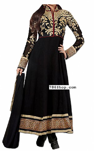 Black Chiffon Suit | Pakistani Dresses in USA