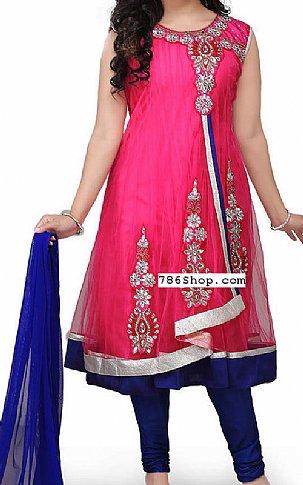 Hot Pink Chiffon Suit   Pakistani Dresses in USA