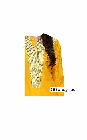 Yellow/Orange Georgette Suit | Pakistani Dresses in USA