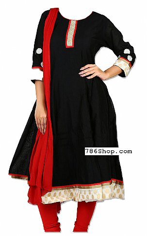 Black Georgette Suit   Pakistani Dresses in USA