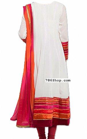 Off-white Chiffon Suit   Pakistani Dresses in USA