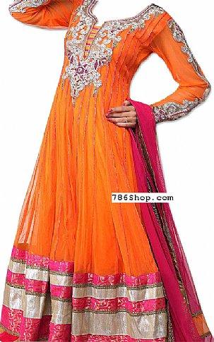Orange/Pink Chiffon Suit | Pakistani Dresses in USA