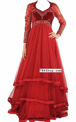 Cardinal  Net Suit | Pakistani Dresses in USA