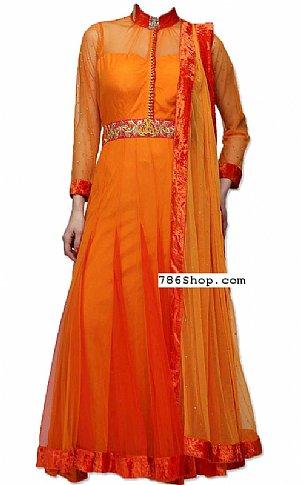 Orange Chiffon Suit | Pakistani Dresses in USA