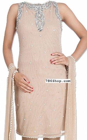 Fawn Chiffon Suit | Pakistani Dresses in USA