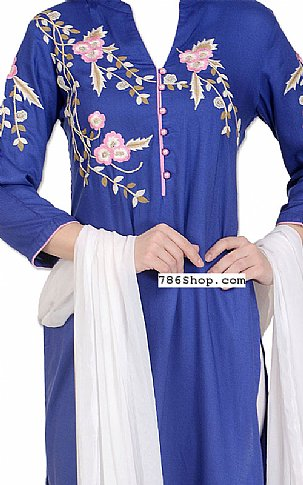 Blue/White Georgette Suit | Pakistani Dresses in USA
