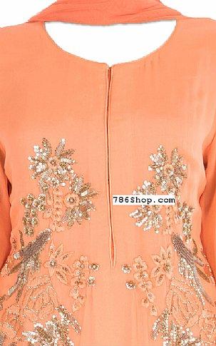 Peach Chiffon Suit | Pakistani Dresses in USA