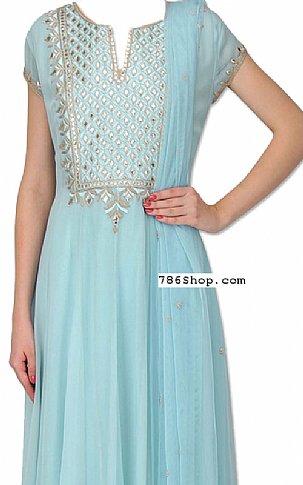 Sky Blue Georgette Suit | Pakistani Dresses in USA