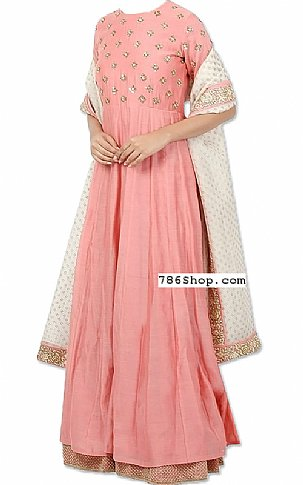 Tea Pink Georgette Suit   Pakistani Dresses in USA