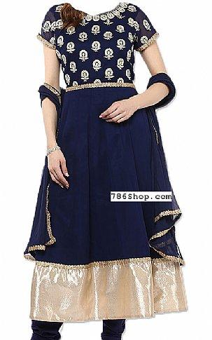 Blue Chiffon Suit   Pakistani Dresses in USA