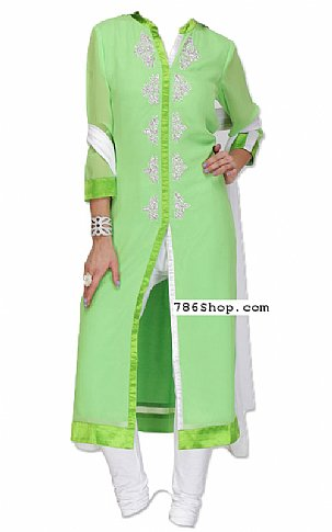 Apple Green Chiffon Suit | Pakistani Dresses in USA