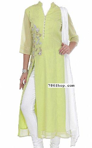 Light Green Chiffon Suit   Pakistani Dresses in USA