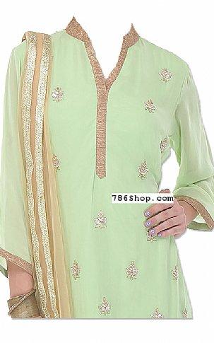 Mint Green Chiffon Suit | Pakistani Dresses in USA