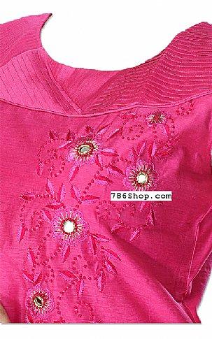 Hot Pink Silk Suit | Pakistani Dresses in USA