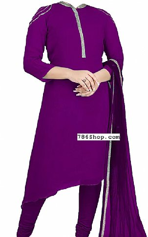Indigo Georgette Suit | Pakistani Dresses in USA