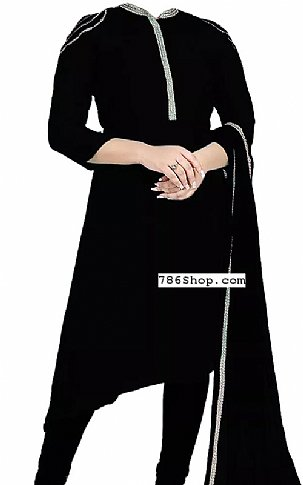 Black Georgette Suit | Pakistani Dresses in USA
