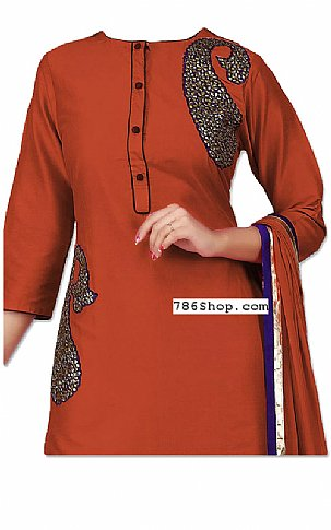 Brown Georgette Suit | Pakistani Dresses in USA