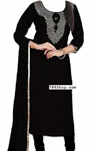 Black Chiffon Suit | Pakistani Dresses in USA