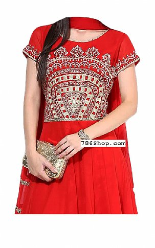 Red Chiffon Suit | Pakistani Dresses in USA