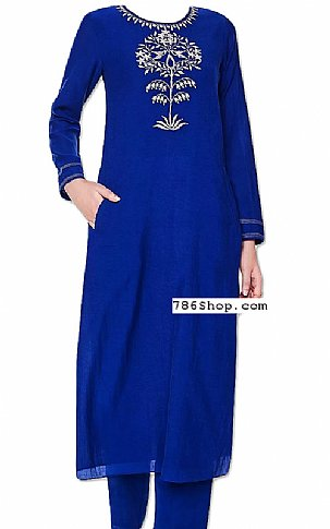 Royal Blue Georgette Suit | Pakistani Dresses in USA