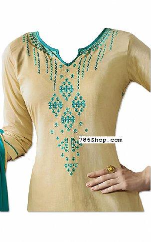 Ivory Georgette Suit | Pakistani Dresses in USA
