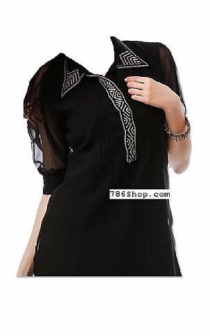 Black/white Chiffon Suit | Pakistani Dresses in USA