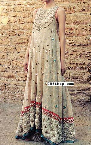 Light Golden Jamawar Chiffon Suit   Pakistani Party and Designer Dresses in USA